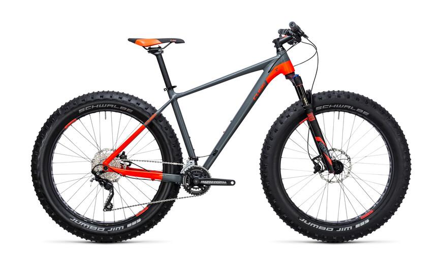 """Cube Nutrail etujousitettu maastopyörä 26"""" , harmaa/oranssi"""